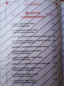 Platos Combinados Marina Dor