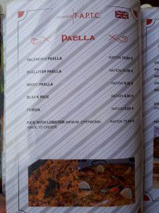Paellas Restaurante Marina Dor
